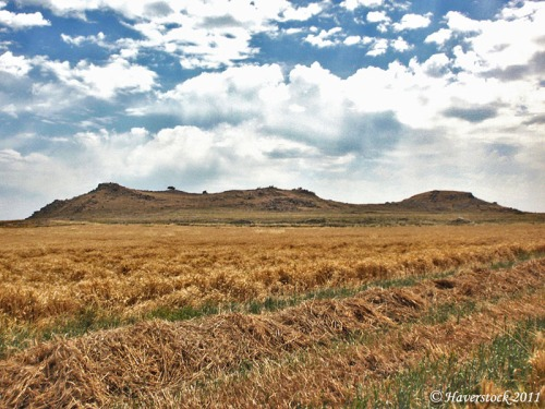 The Horns of Hattin from the west. Photo by Larry Haverstock.