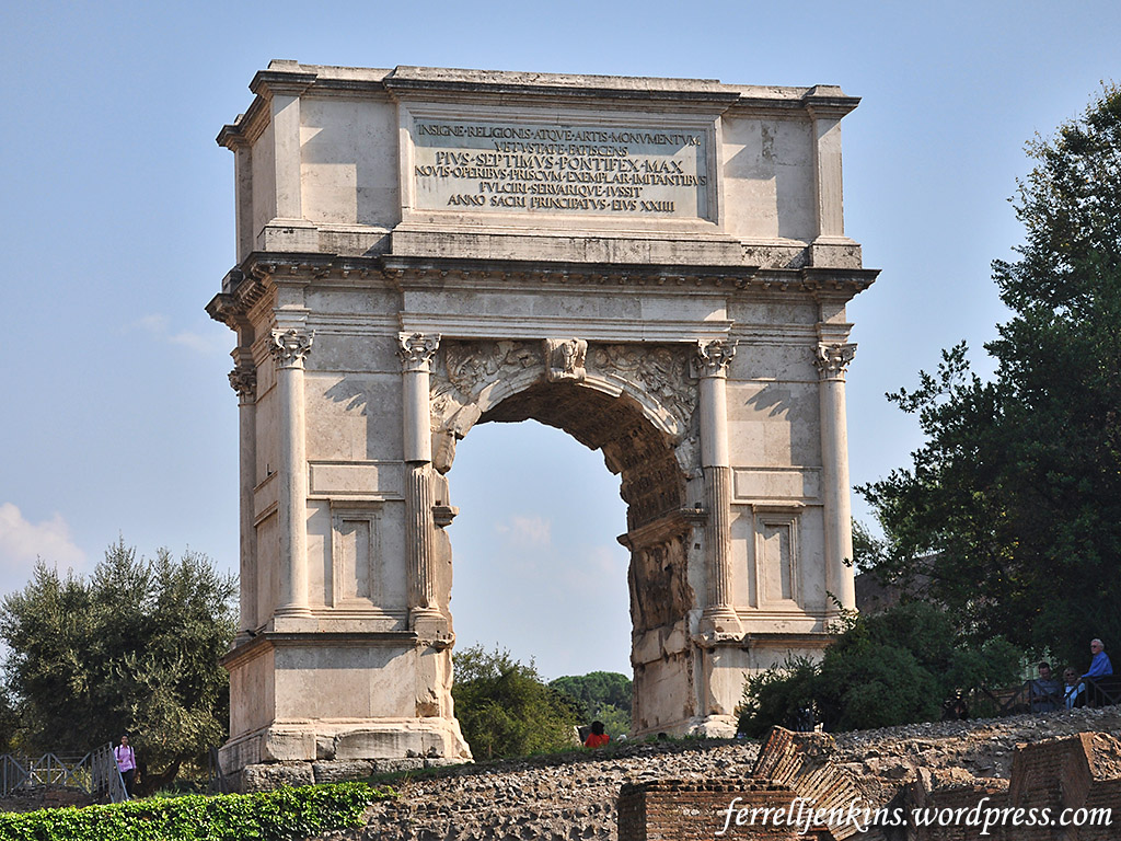 The Arch of Titus once had a golden menorah | Ferrell's ...