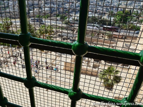 View of the Temple Mount steps from inside Al-Aksa moaque. Photo by Ferrell Jenkins.