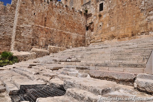 The monumental steps that led to the temple in the time of Jesus. Photo by Ferrell Jenkins.
