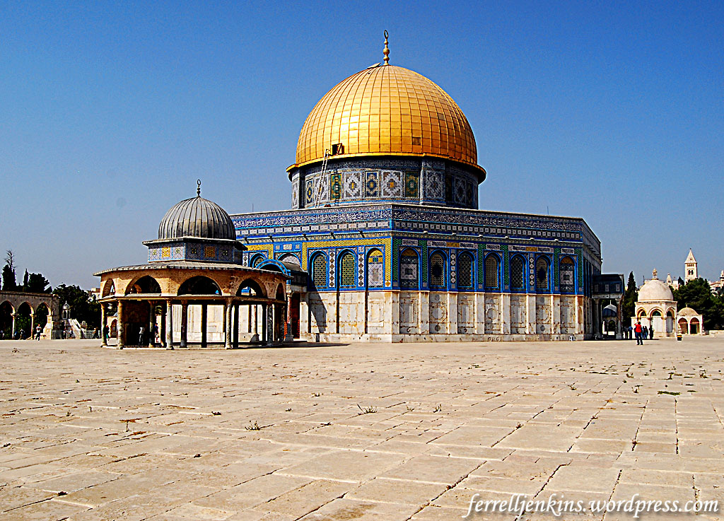 dome of the rock The jewel in the crown of temple mount/al haram ash sharif is the gold-plated dome of the rock, the enduring symbol of the city and one of the most photographed.