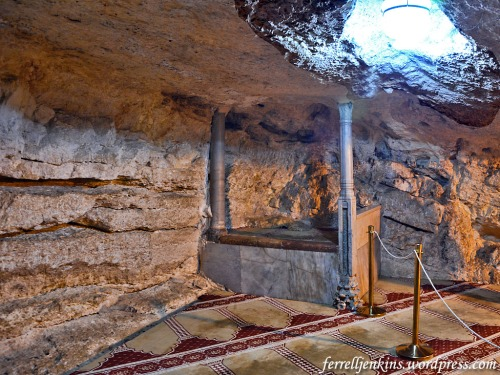 The underground natural cave enlarged by the Crusaders for the construction of a church or chapel to commemorate the announcement to Zacharias (Luke 1:13). Photo by Ferrell Jenkins.