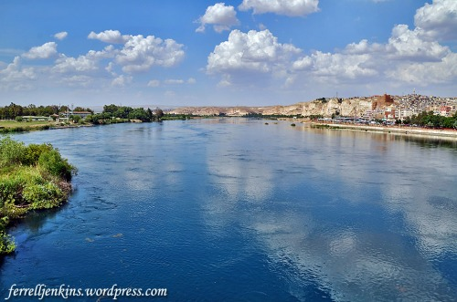The Firat Nehri (Euphrates River) in Birecik, Turkey. Photo by Ferrell Jenkins.