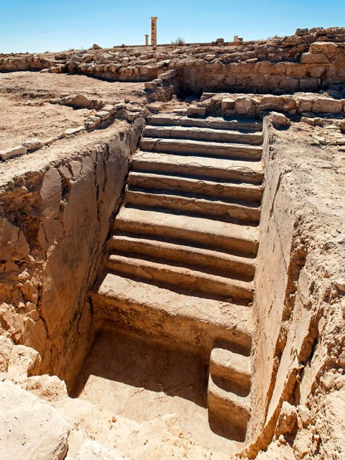Large mikveh in Herod's palace at Machaerus, Jordan. Photo courtesy of Hungarian Archaeological Mission to Machaerus.