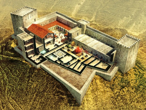 Simulation of Herod's palace-fortress at Machaerus. Photo courtestsy of the Hungarian Archaeological Mission to Machaerus.