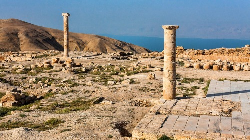 Two columns stand on the top of Machaerus, where once the great palace of Herod the Great was located. Photo courtesty of the Hungarian Archaeological Mission to Machaerus.