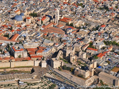 Aerial view of Jaffa Gate. Photo by Ferrell Jenkins.