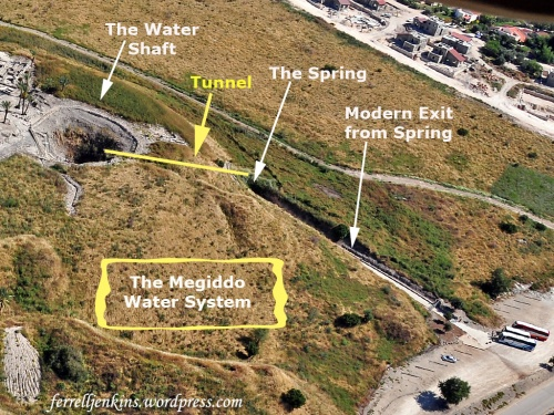 Annotated aerial photo showing elements of the water system. Photo by Ferrell Jenkins.