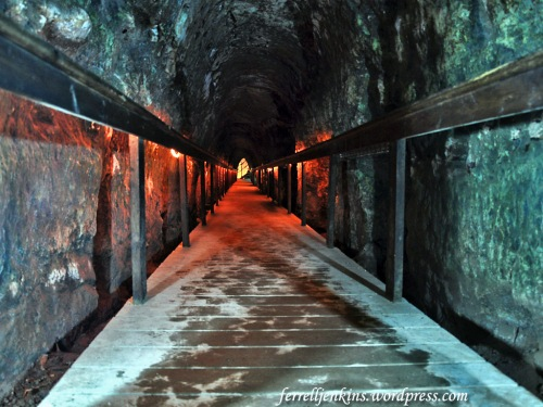 The tunnel at Megiddo with a modern walk for ease of traversing the length. Photo by Ferrell Jenkins.