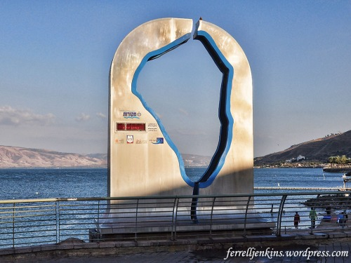 This gauge at Tiberias measures the level of the Sea of Galilee. Photo by Ferrell Jenkins.