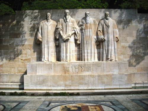 The Reformation Wall, Geneva, Switzerland. Photo by Ruth Nguyen.
