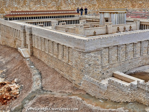 The Herodian Temple in the Second Temple Model at the Israel Museum. Photo by Ferrell Jenkins.