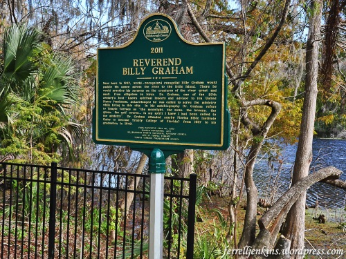 The Graham historical marker on the banks of the Hillsborough River.