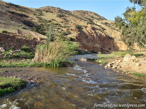 The Jabbok River east of the River Jordan. Near here Jacob a life-changing encounter with the LORD. Photo by Ferrell Jenkins.