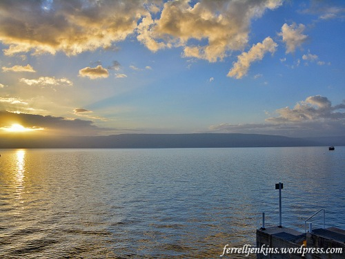 Sunrise on the Sea of Galilee, March 25, 2018. Photo by Ferrell Jenkins.