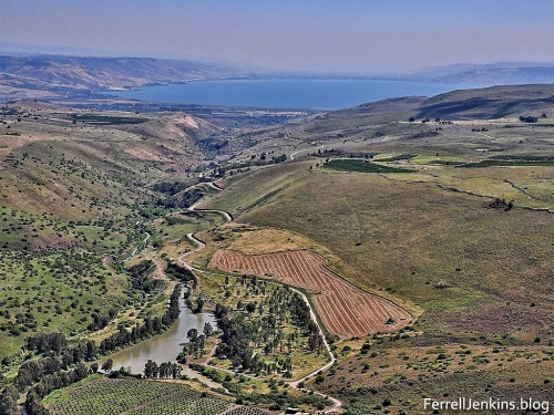 This aerial view of the Jordan valley north of the Sea of Galilee illustrates perfectly the Great Rift. Photo by Ferrell Jenkins.