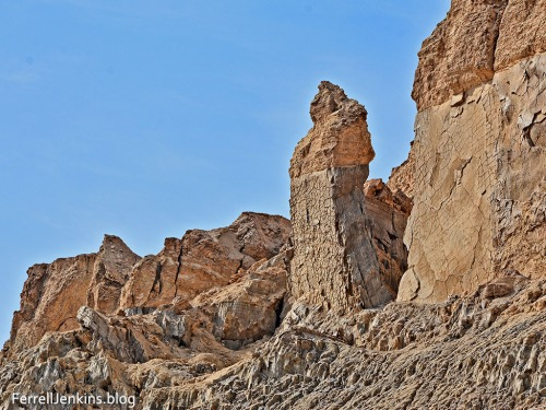 Lot's Wife, a natural formation south of the Dead Sea. Photo by Ferrell Jenkins.