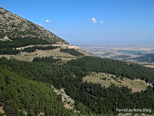 View south from the Amanus mountains in modern Turkey. Photo by Ferrell Jenkins.