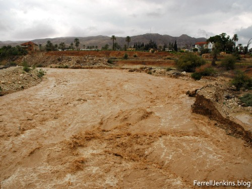 Wadi Kelt at Jericho after heavy rains in the central mountains range April 2, 2006. Photo by Ferrell Jenkins.