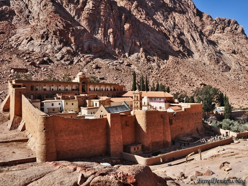 The Monastery of St. Catherine at the foot of Jebel Musa, the traditional Mount Sinai. Photo by Ferrell Jenkins.