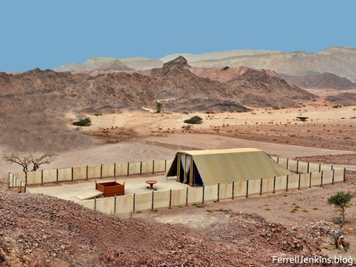 The Tabernacle in the Wilderness at Timna Park. Photo by Ferrell Jenkins.