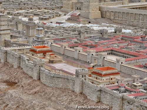 Herod's palace depicted in the Second Temple Model at the Israel Museum. Photo by Ferrell Jenkins.