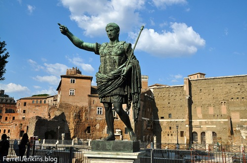 Replica of a statue of the Emperor Augustus in Rome. Photo by Ferrell Jenkins.