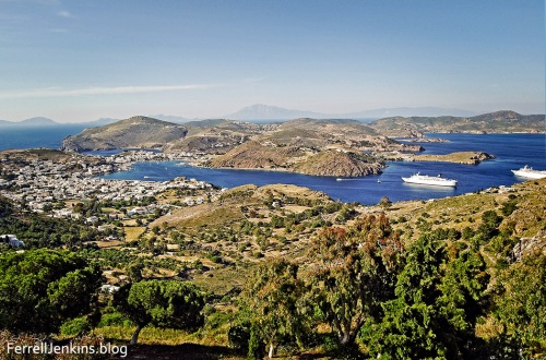 A view of the harbor on the island of Patmos, the place where the apostle John received, and possibly wrote the Book of Revelation. Photo by Ferrell Jenkins.