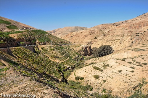 Wadi Shu'ayb, looking toward the Jordan Valley. Photo by Ferrell Jenkins.