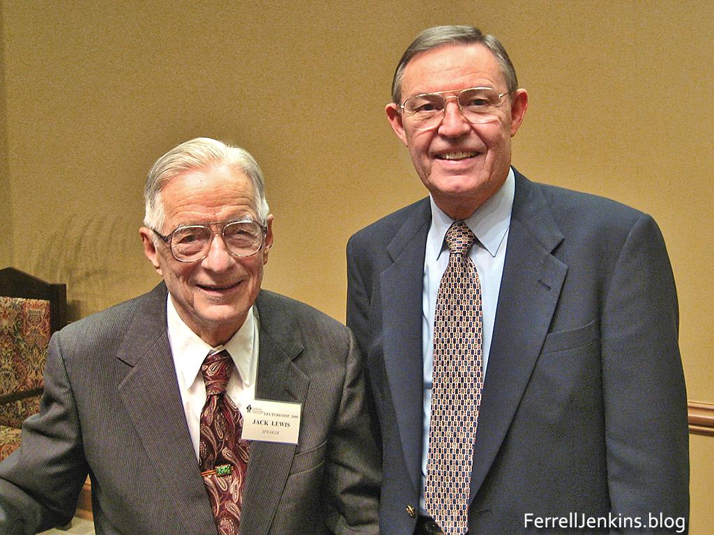 Dr. Jack P. Lewis and Ferrell Jenkins. FerrellJenkins.blog.