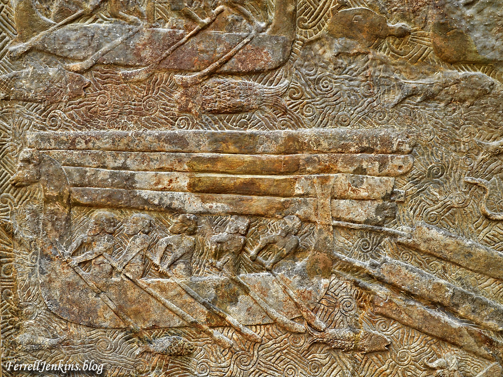 Assyrians transporting cedar of Lebanon for their buildings. Louvre. Photo by Ferrell Jenkins.