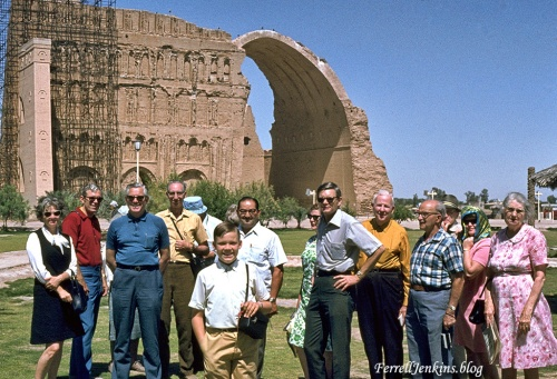 Ctesiphon, Iraq. Ferrell Jenkins tour group. 1970.