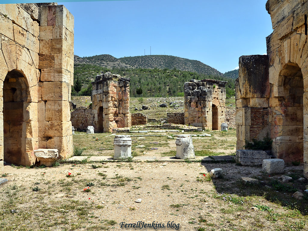 The Martyrium of Philip was built in the early 5th century A.D. on the site thought to be where Philip was martyred. Photo by Ferrell Jenkins.