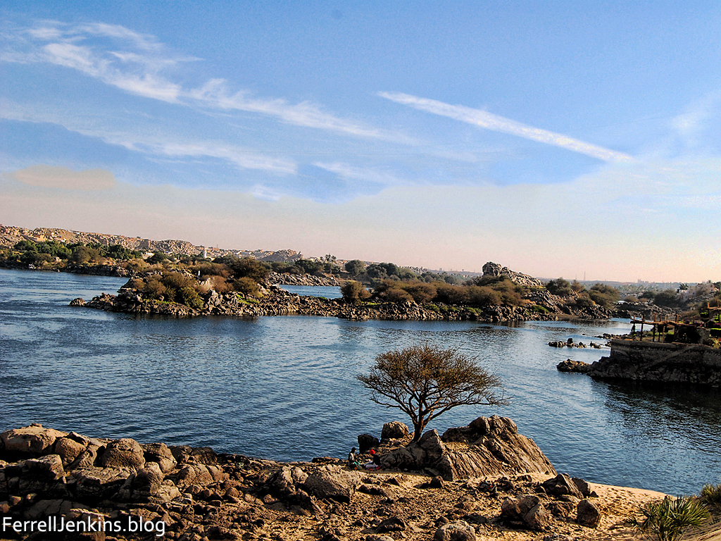 Nile River at Aswan, Egypt. Photo by Ferrell Jenkins.