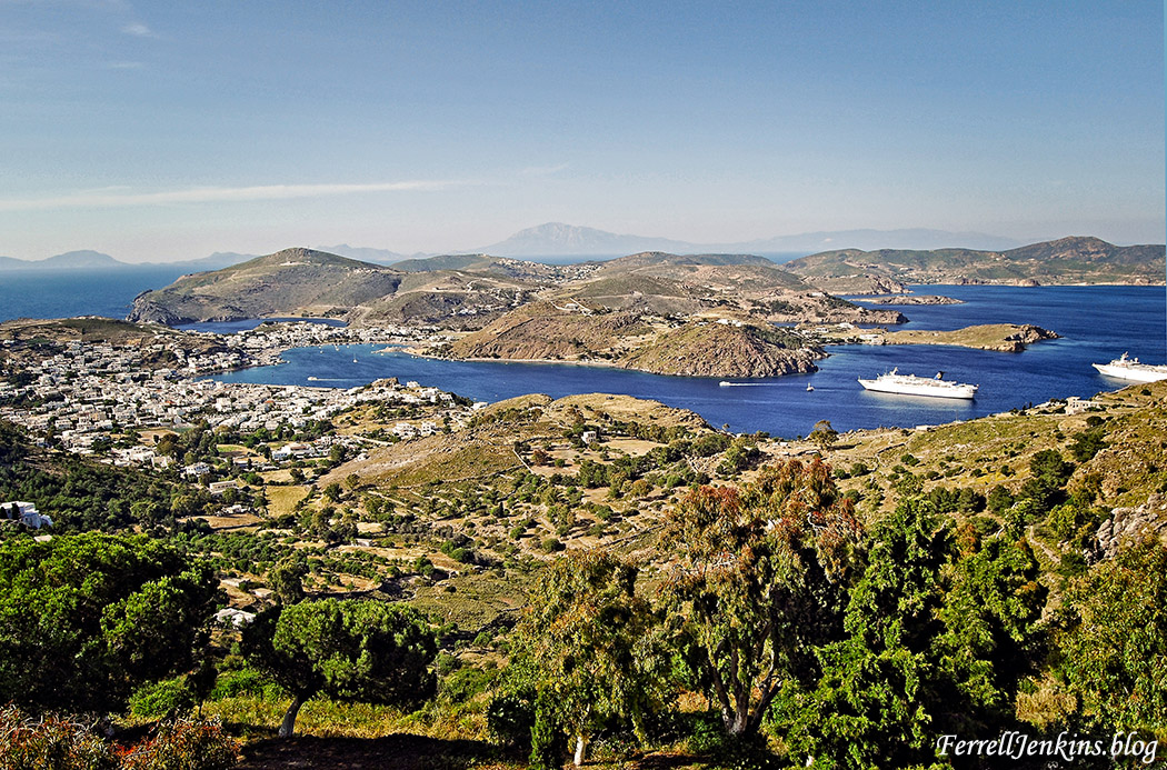 The island of Patmos. FerrellJenkins.blog.