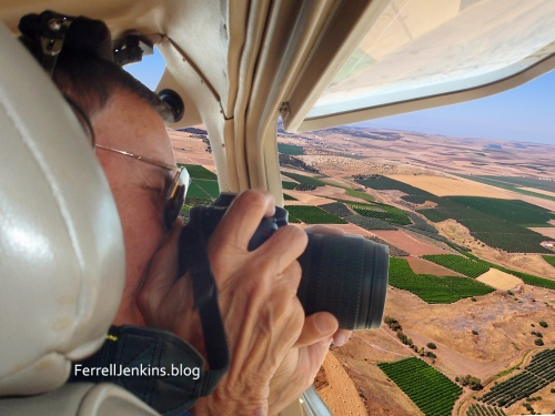 Photographing the Jezreel Valley in Israel. FerrellJenkins.blog.