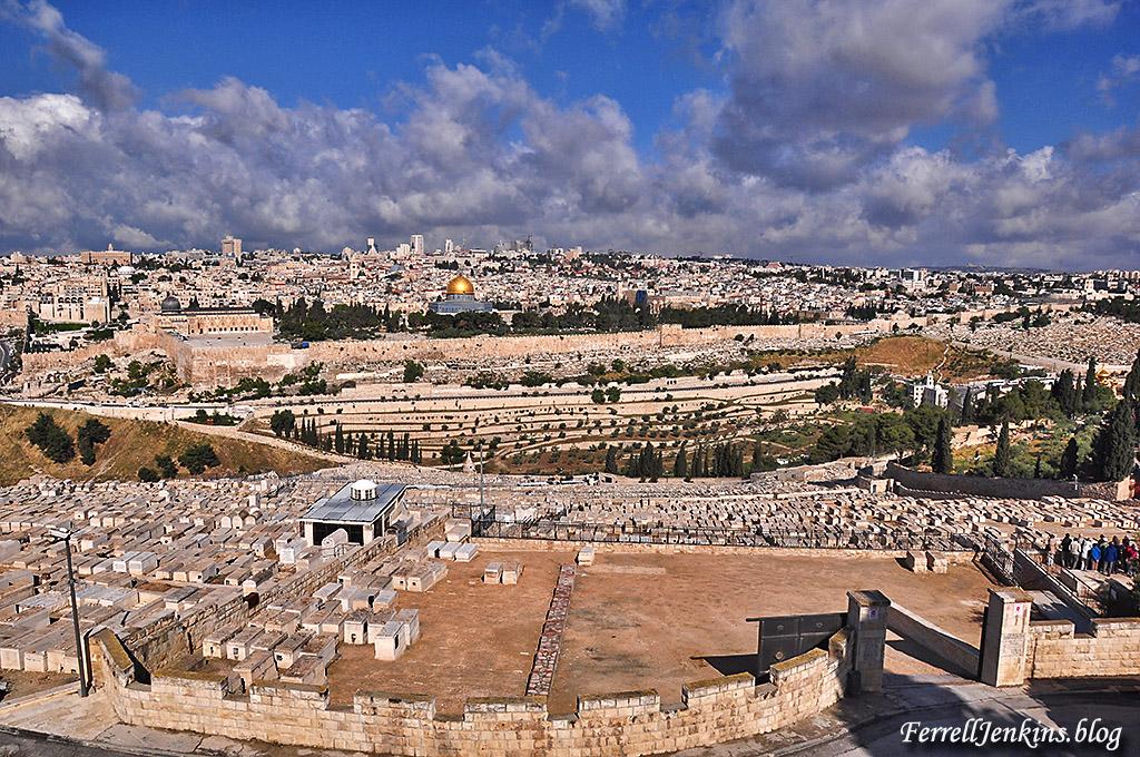 A view of Jerusalem from Mount Olivet. Photo: FerrellJenkins.blog.