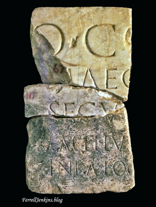 Macellum Inscription - Corinth, No. 124. Photo: FerrellJenkins.blog..