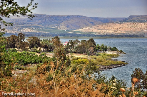 Capernaum from above the location on the Sea of Galilee. Photo: ferrelljenkins.blog.