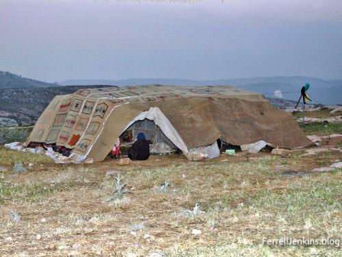 Sheperd's tent near Heshbon, Jordan. ferrelljenkins.blog.