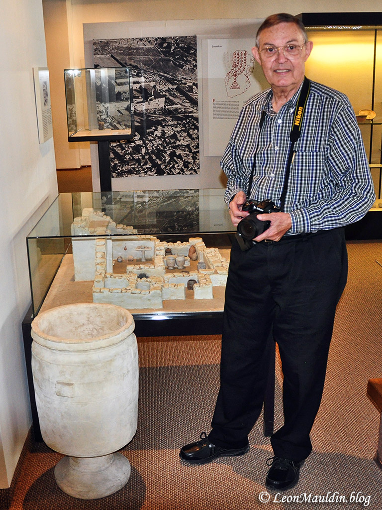 Ferrell Jenkins at the Hecht Museum, Haifa, Israel.