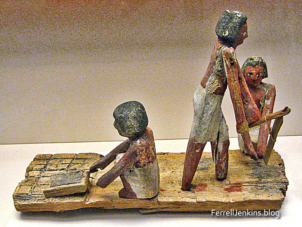 Egyptian Brick Makers Model in the British Museum. Photo: ferrelljenkins.blog.
