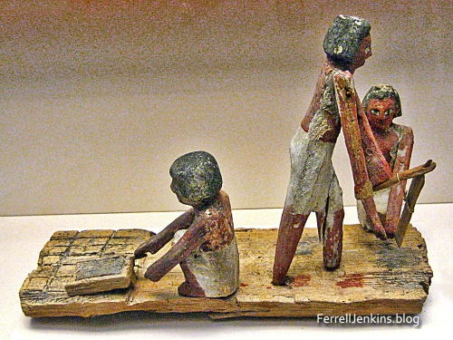 Egyptian Brick Makers Model in the British Museum. Photo: ferrelljenkins.blog.