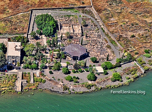 Capernaum from the air. Photo: ferrelljenkins.blog.
