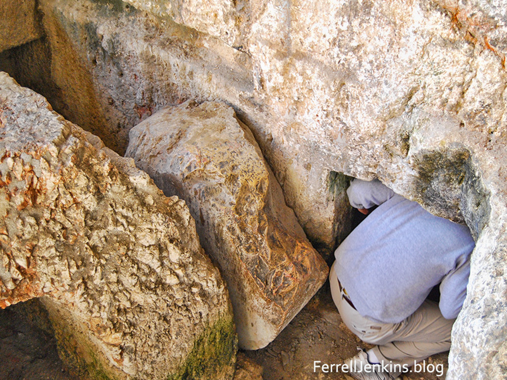 Rolling stone at the Tomb of the Kings, Jerusalem. Photo: ferrelljenkins.blog.
