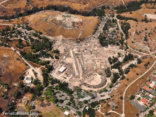 Tel Husn/Bethshan and Roman Theater and Byzantine city. Photo: ferrelljenkins.blog.