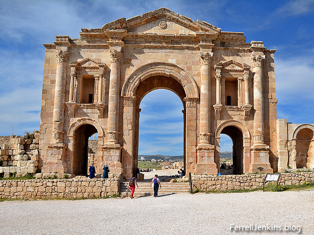 Hadrian's Arch, Jerash, Jordan. Photo: ferrelljenkins.blog.