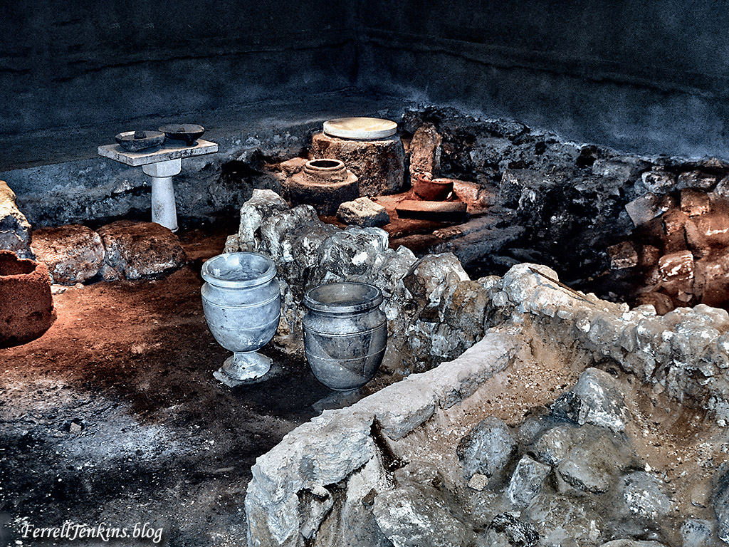 The burnt house after the Roman destruction of Jerusalem. Photo: ferrelljenkins.blog.
