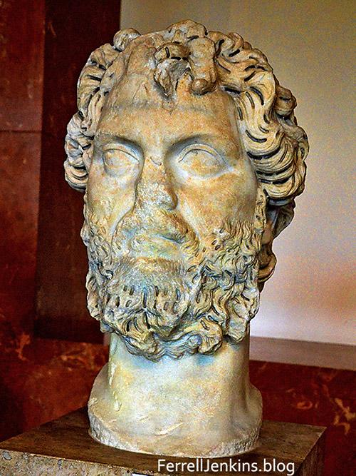 Stemius Severus, Roman Emperor, AD 193-211. Photo: ferrelljenkins.blog.