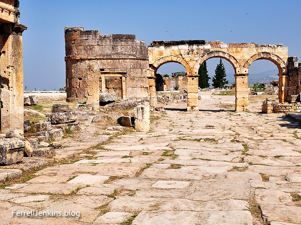 Arch of Domitian at Hierapolis. Photo: ferrelljenkins.blog.